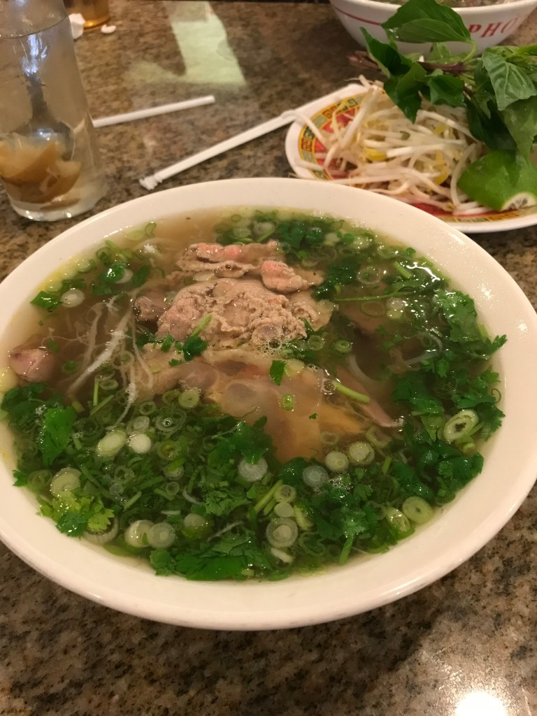 Pho from Pho 75. It's the real cure for what ails ya. Plus, salty lemonade!